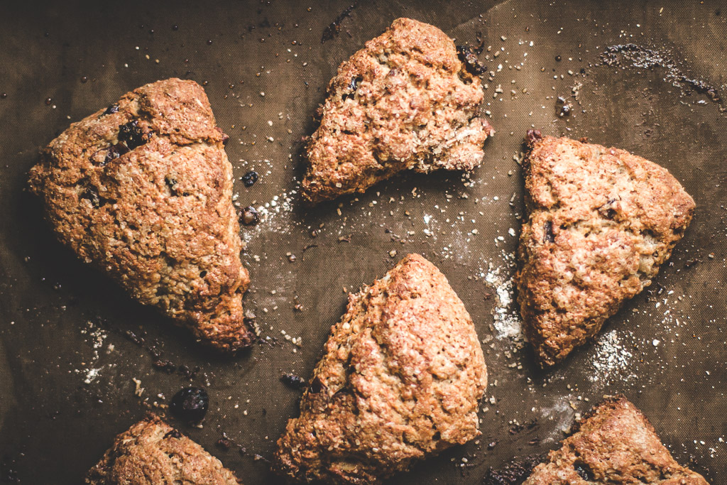 Pecan and Dried Cranberry Oat Scones | Baking Magique